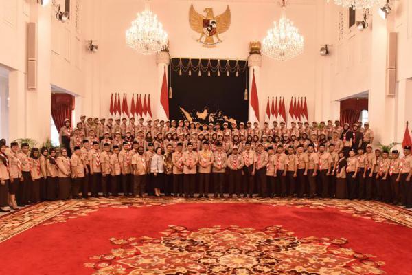 Pesan Presiden Jokowi untuk Kontingan Pramuka: Jaga Nama Baik Bangsa Indonesia