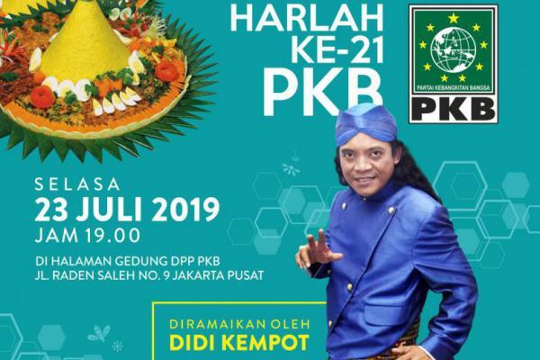 Lord Didi Kempot Akan Meriahkan Tasyakuran Harlah PKB ke-21