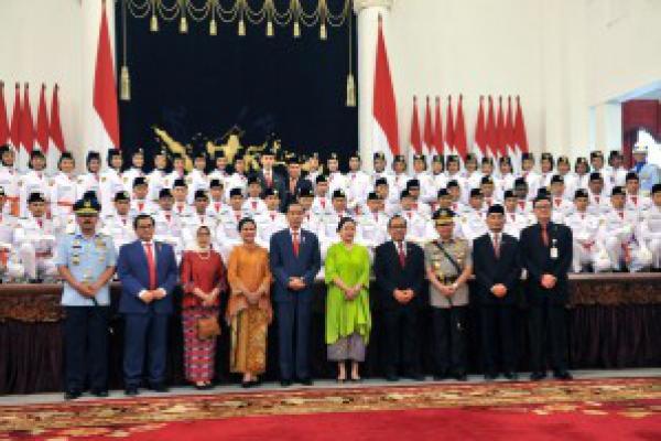 Inilah 68 Putra-putri Terbaik Pengibar Bendera Upacara HUT RI 74 di Istana Merdeka