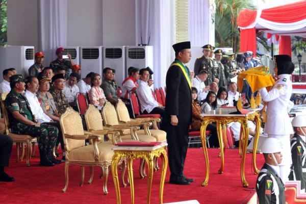 Presiden Jokowi Hadiri Geladi Bersih Upacara Hari Kemerdekaan di Halaman Istana Merdeka