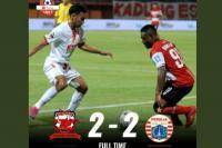 Sengit, Madura United Ditahan Imbang Persija 2-2