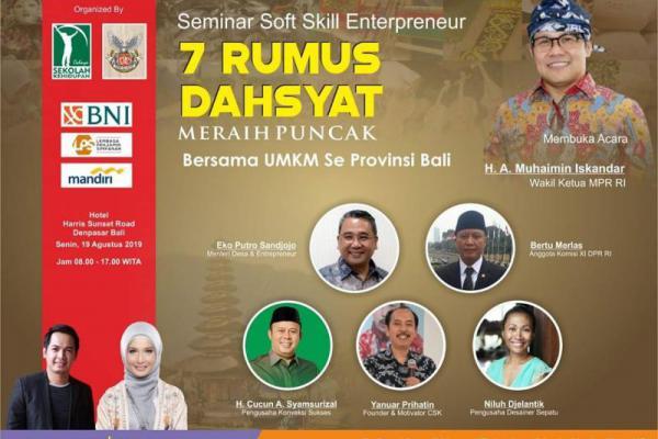 CSK dan EBC adakan Seminar Entrepreneur Akbar di Bali