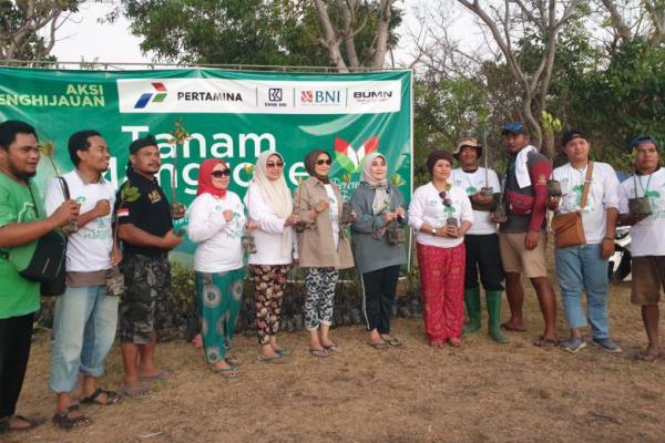 Pra Muktamar, Perempuan Bangsa Gelar Aksi Tanam Mangrove di Bali