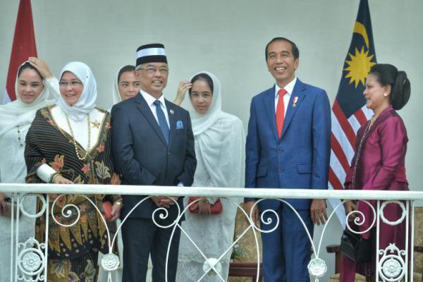 Presiden Jokowi Terima Kunjungan Raja Malaysia di Istana Bogor
