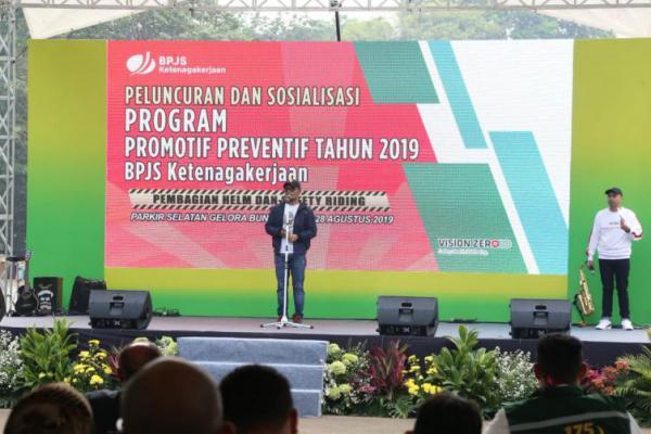 Hanif Dhakiri Hadiri Peluncuran Program Promotif Preventif BPJS Ketenagakerjaan