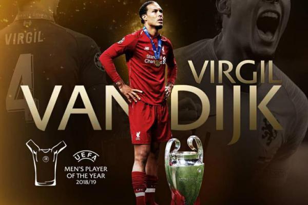 Virgil van Dijk Raih Gelar Pemain Terbaik Eropa 2019
