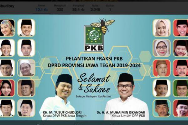 Anggota DPRD Jateng Dilantik, Kursi PKB Naik Signifikan