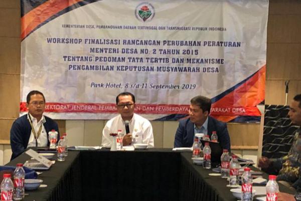Kemendes PDTT Lakukan Harmonisasi Rancangan Perubahan Permendes Tentang Musdes