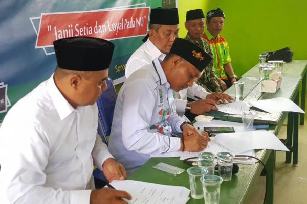 Legislator PKB Papua Barat Tandatangani Pakta Integritas pada NU