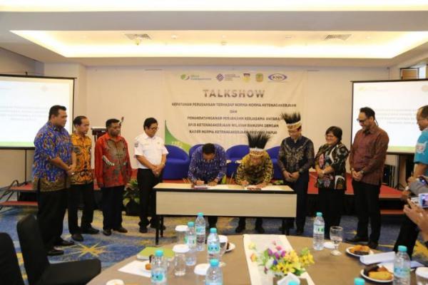 KNK Papua dan BPJS Ketenagakerjaan Jalin Kerjasama