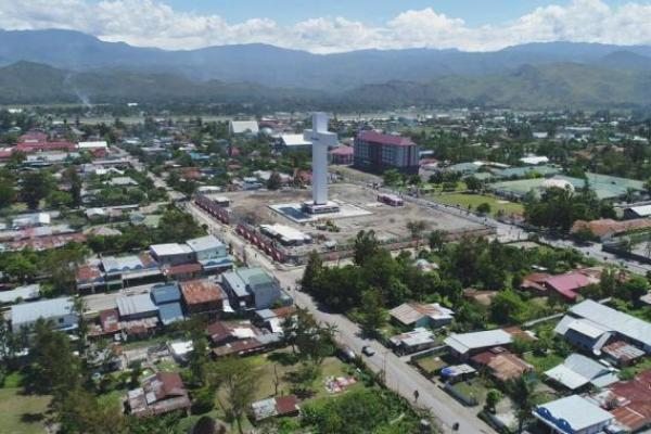 PUPR Rampung Tata Kawasan Menara Salib Wio Silimo di Wamena