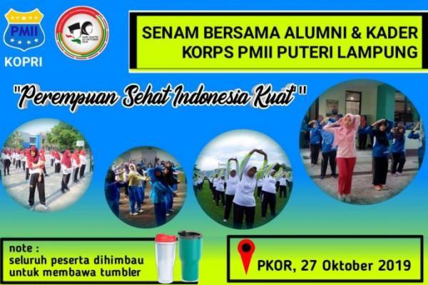 Alumni dan Kader KOPRI se-Lampung Gelar Senam Bersama