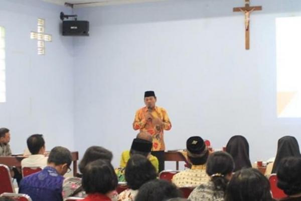 Di Depan Umat Katolik Nanggulan, Sukamto Tekankan Pentingnya Pluralisme