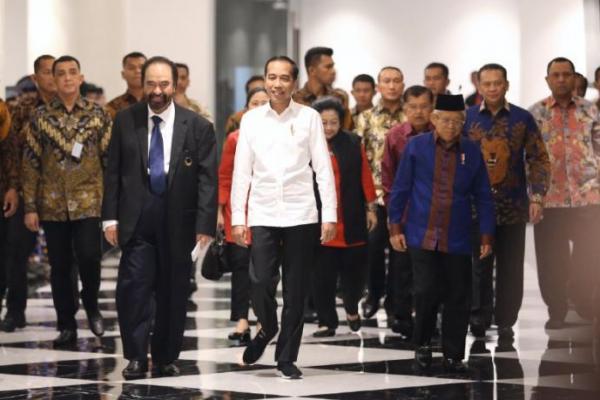 Presiden dan Wapres Hadiri Kongres dan HUT Partai Nasdem di JIExpo Kemayoran