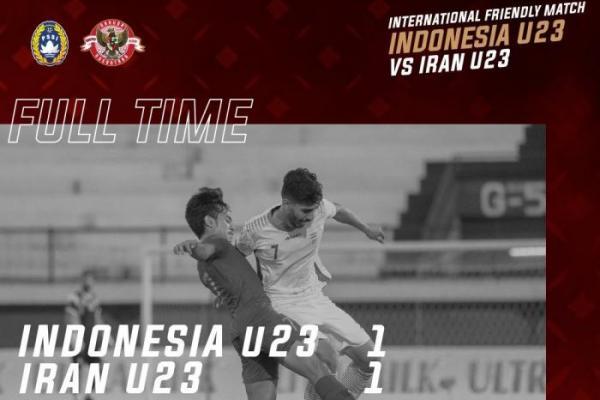 Timnas Indonesia U-22 Ditahan Imbang Iran U-23