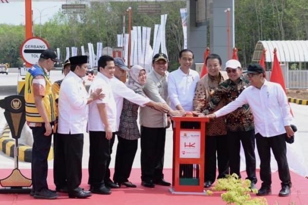 Resmikan Tol Trans Sumatera, Jokowi Target Tol Lampung-Aceh Selesai 2024