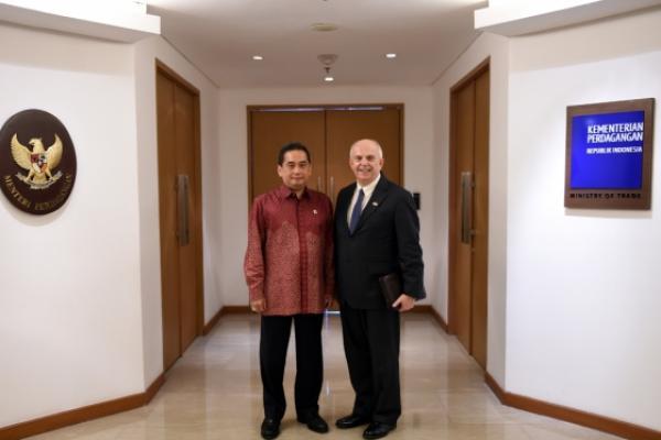 Bahas Kerjasama Perdagangan, Menteri Agus Terima Kunjungan Dubes AS