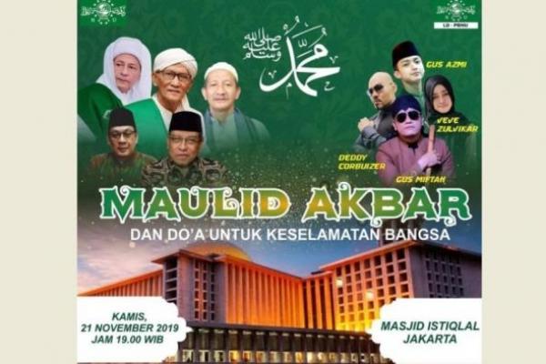 Kamis Besok, PBNU Akan Gelar Maulid Akbar dan Doa Keselamatan Bangsa di Masjid Istiqlal
