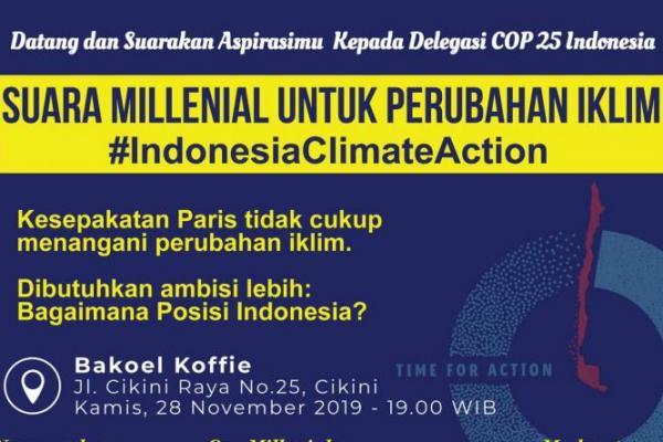 Climate Institute Gelar Diskusi Terbuka `Suara Millennials untuk Aksi Iklim`