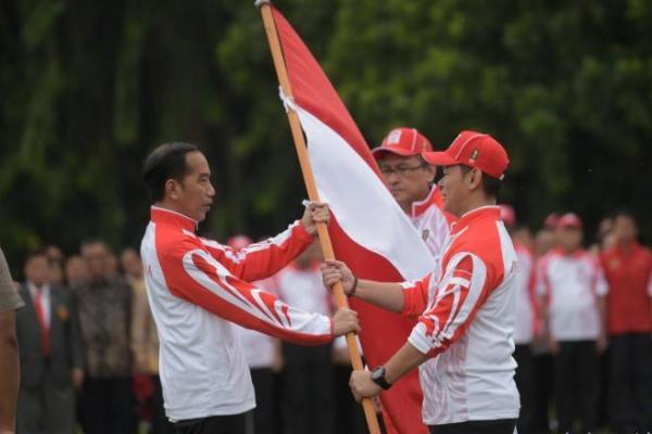 Presiden Jokowi Lepas Kontingen Indonesia, Target Masuk 2 Besar Sea Games 2019
