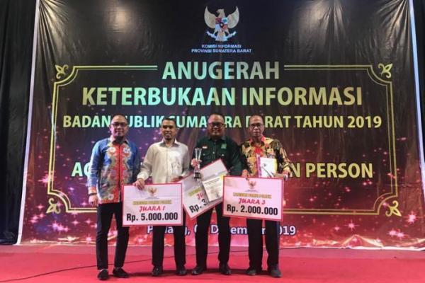 PKB Sumatera Barat Raih Anugerah Keterbukaan Informasi Publik 2019