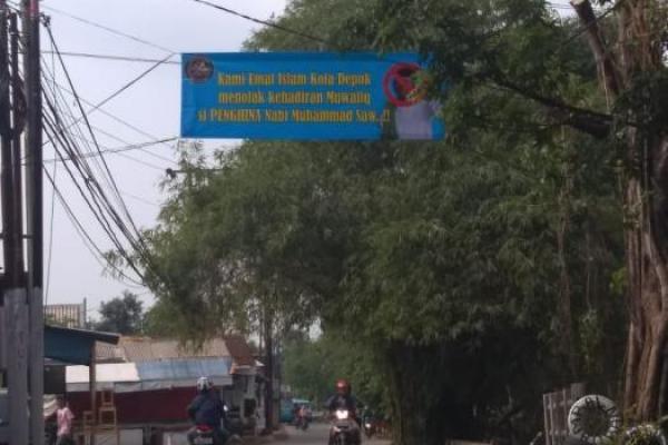 Beredar Spanduk Penolakan Kedatangan Gus Muwafiq di Kota Depok