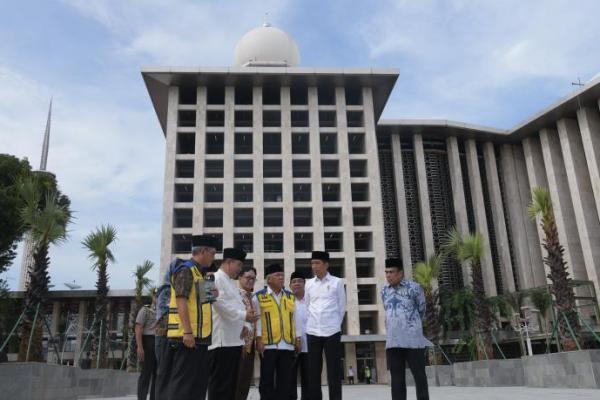 Presiden Jokowi: Renovasi Masjid Istiqlal Rampung Sebelum Ramadhan