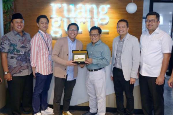 Sambangi Ruangguru.com, Cak Imin Apresiasi Inovasi Pendidikan Indonesia