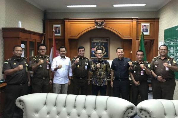 Bangun Sinergitas, Rano Alfath dan Ahmad Baiquni Temui Kejari Tangerang