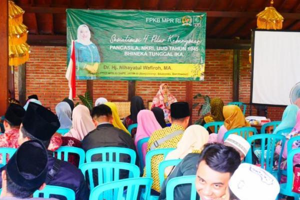 Sosialisasi 4 Pilar, Nihayatul Wafiroh Tekankan Pentingnya Pendidikan Karakter