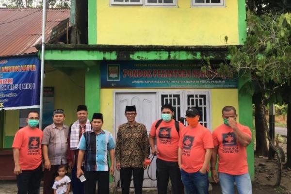 PKB Sumbar Semprot Disinfektan di Ponpes Nurul Yaqin Padang Pariaman