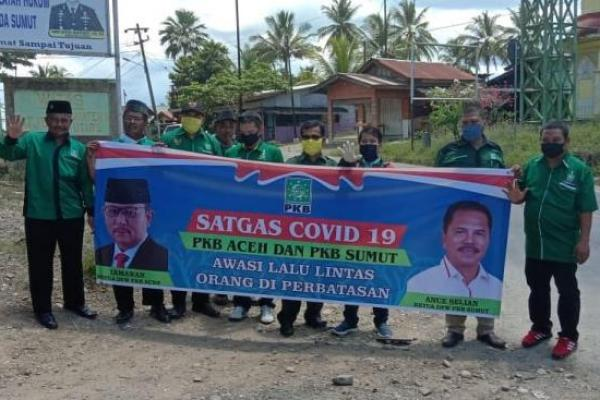 Cegah Penyebaran COVID-19, PKB Sumut dan Aceh Sinergi Kawal Perbatasan