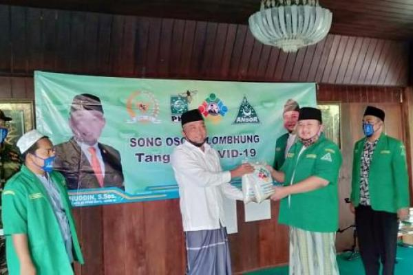 Gandeng GP Ansor Bangkalan, Legislator PKB Syafiuddin Salurkan Paket Sembako