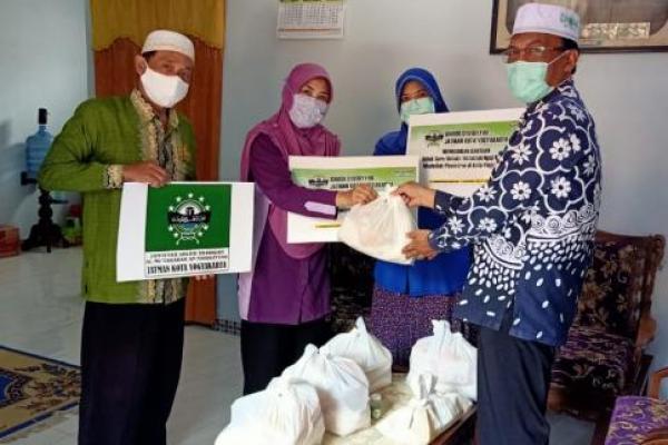 Idaroh Syu'biyyah JATMAN Kota Yogyakarta Gelar Baksos Untuk Masyarakat Terdampak Covid-19