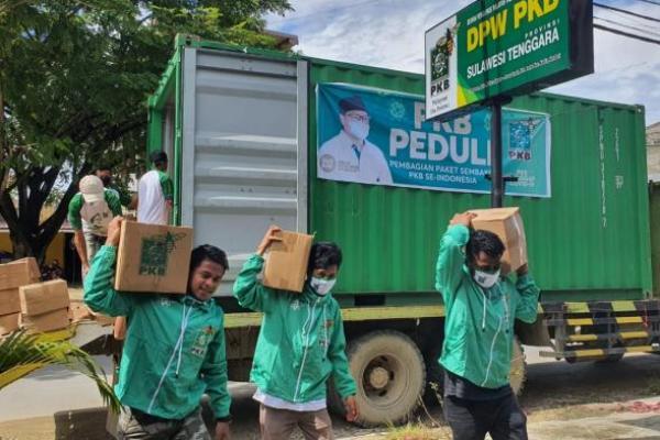 Empat Kontainer Bantuan Sembako Gus Muhaimin Tiba di Bumi Anoa