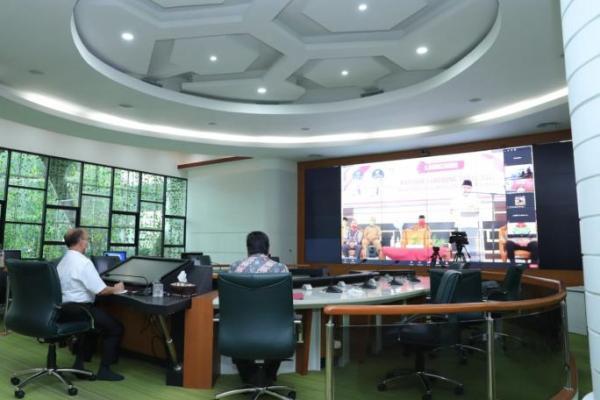 Secara Virtual, Sekjen Kemendes PDTT Saksikan Penyerahan BLT Dana Desa di Dharmasraya