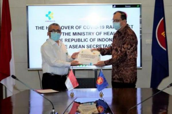 Kemenkes Beri Bantuan 2.000 Rapid Test pada Sekretariat ASEAN