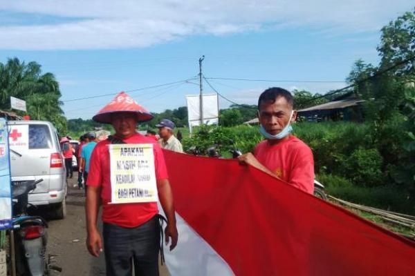 Protes Areal Lahan Dirampas, Petani Deli Serdang Jalan Kaki ke Jakarta