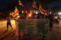 Aksi Jalan Kaki Petani Simalingkar ke Istana Berlanjut, Kini Tiba di Labuhanbatu