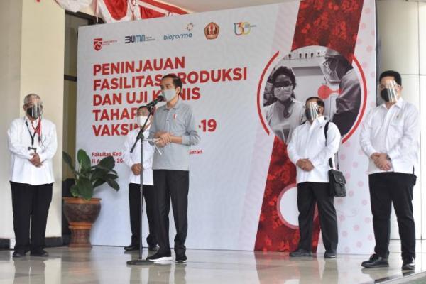 Presiden Jokowi Harap Uji Klinis Vaksin Covid-19 Selesai dalam 6 Bulan