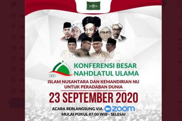 PBNU Gelar Konbes NU 23 September 2020 Secara Daring