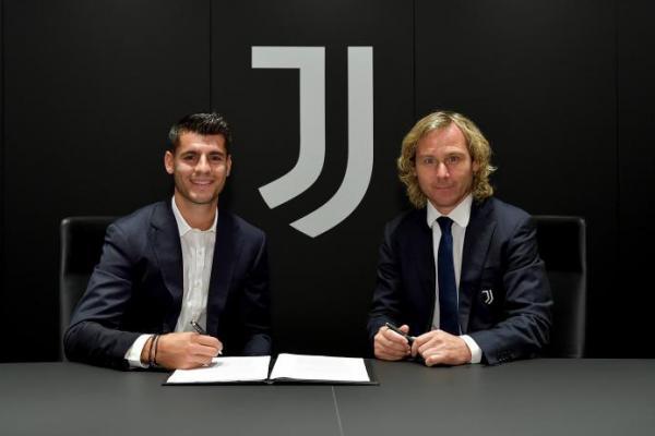 Resmi! Juventus Datangkan Alvaro Morata dari Atletico Madrid