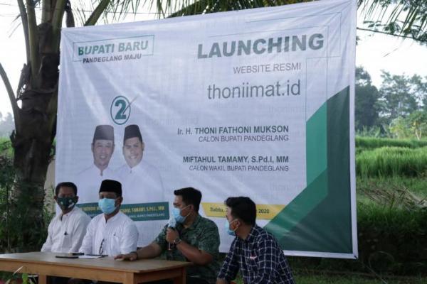 Paslon Thoni-Imat Luncurkan Website Resmi thoniimat.id