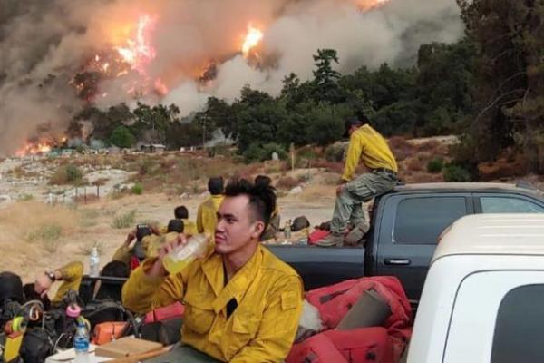 Seorang WNI Turun Tangan Bantu Padamkan Kebakaran Hutan di California