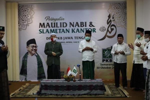 Tempati Kantor Baru, PKB Jateng Maulidan dan Doa Bersama