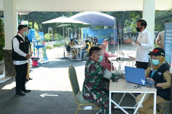 Presiden Sidak Pelaksanaan Simulasi Vaksinasi COVID-19 di Kota Bogor