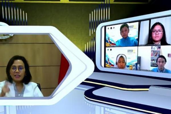 Meski Dilanda Pandemi, Sri Mulyani Ingatkan Siswa Tetap Rajin Belajar