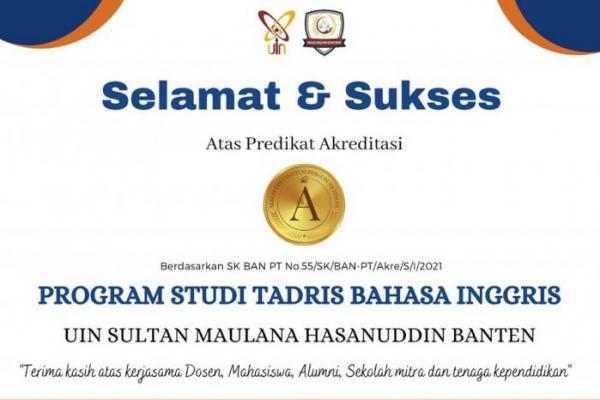 Cetak Sejarah, Prodi TBI UIN Banten Raih A Akreditasi BAN PT