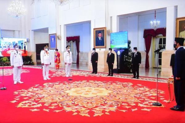 Presiden Jokowi Lantik Gubernur Kaltara dan Sulut