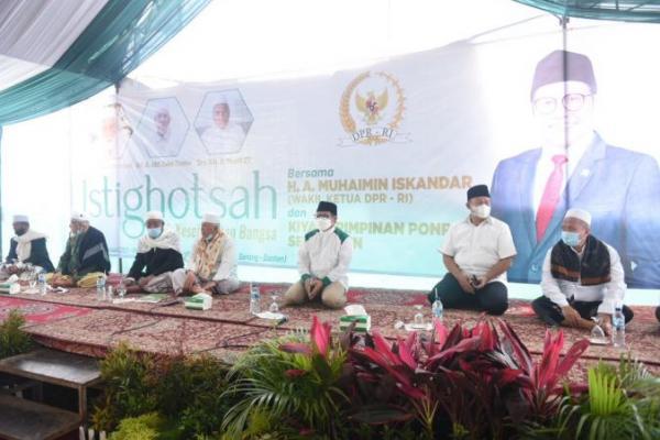 Ke Banten, Gus AMI Istighotsah dan Resmikan SMK Plus 30 Juz Alquran